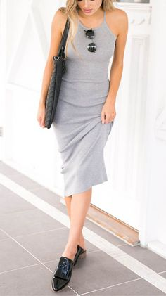 Bodycon Grey Long Dress Straps Halter Backless Casual  116260 ♥JUST  17.99  NOW!Can Not Miss it at Chicnico.com ! 0d20208946