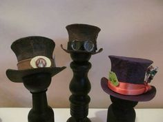 I am turning into the Madhatter----Tutorial Alert! - This is a BRILLIANT tutorial on how to make adorable mini top hats! Mode Steampunk, Steampunk Hat, Steampunk Costume, Cool Stuff, Doll Crafts, Fun Crafts, Bjd, Minis, 3d Templates