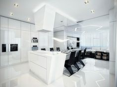 futurista apartamento abierto comedor casa
