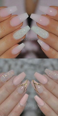 2016 Nail Trends 101 Pink Nail Art Ideas - New Year Nails - # Ideas # . Trendy Nails, Cute Nails, My Nails, Hair And Nails, Glitter Accent Nails, Zebra Nails, Star Nails, Glitter Nail Art, Prom Nails