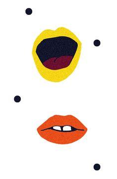 Illustration pour l'affiche d'une chrorale par champ libre, studio de création graphique et communication globale #bouche #mouth #graphicdesign #affiche #poster #graphisme #layout #illustration