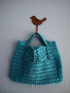 Crochet Bag Inspiration ❥ 4U // hf | Note to Self: design a pattern based on this, but personalized.  Different handle--no, a shoulder-strap.  Use a button, or three.  Make buttons?  Possibly.  Use old earring stash, if so.