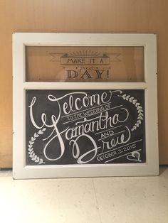 Wedding chalkboard Welcome Sign.