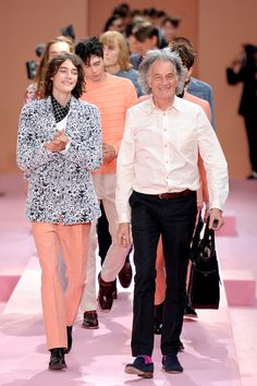 Paul Smith at his show menswear spring/summer 2014