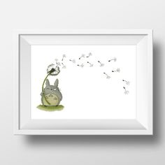 My Neighbor Totoro and Dandelion blowball mythical forest