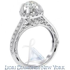 1.81 Carat D-VS2 Certified Natural Round Diamond Engagement Ring 18K White Gold - Liori Exclusive Engagement Rings - Engagement - Lioridiamonds.com