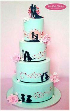 Svatebni dort silueta