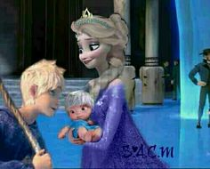its so photoshopped but omg jelsa Princesa Disney Frozen, Disney Frozen Elsa, Disney Fun, Baby Disney, Disney Movies, Jack Y Elsa, Jack Frost And Elsa, Disney Princess Babies, Disney Princess Pictures
