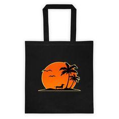 Dachshund Palm Tree - Tote bag - WeeShopyDog