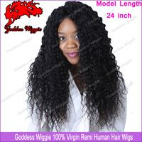 Brazilian Natural Color Curly Hair Wigs Full Lace Wigs Kinky  Lace Front Human Hair Wigs With Baby Hair Fou Black Women