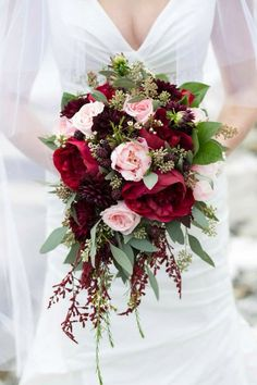 Blush & Merlot Wedding Flowers done by Valley House of Flowers