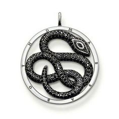 Popular Silver Plated Snake Shaped Round Pendant