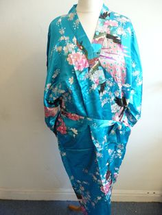 eb51188267 blue Chinese dressing gown robe style Japanese by Daft4kraft Boudoir