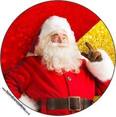 Santa Claus en Rojo y Dorado: Etiquetas para Candy Buffet para Imprimir Gratis. | Ideas y material gratis para fiestas y celebraciones Oh My Fiesta!