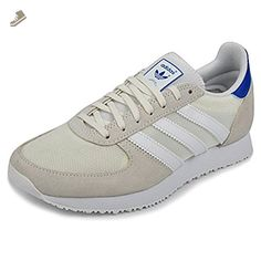 Adidas Original Women\u0027s Classic Tenis ZX Racer Shoes Sneakers (7.5, Off  White/Royal
