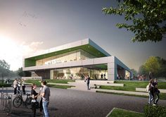 New sports centre in Zaanstad by MoederscheimMoonen Architects