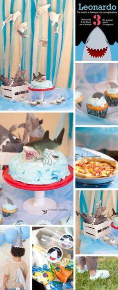 http://kariad3.wix.com/photo Shark party/fiesta de tiburones