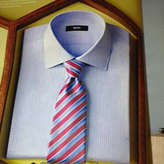 Beautiful   shirt   and  tie .