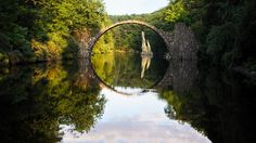 This bridge at Rhododendron Park in Kromlau, Germany  - Imgur