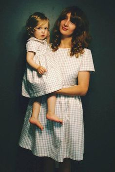 Etsy seller OffOn makes the chicest mommy-and-me dresses we've ever seen. #etsyfinds