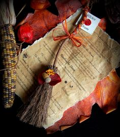 Handmade Witches Besom with Acorn for Luck