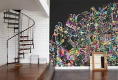 Never Ending Paper mural by Mr Perswall