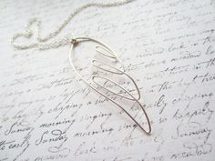 Silver Wire Necklace, Angel Necklace, Wing Necklace, Swedish Jewelry Design, Made in Sweden