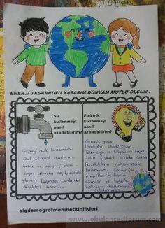 Enerji tasarrufu yaparım ! Dünyam mutlu olsun! - Okul Öncesi Etkinlik Kaynağınız Turkish School, Earth Day, Montessori, Comics, 3 Year Olds, Cartoons, Comic, Comics And Cartoons, Comic Books