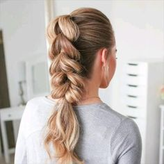 Easy Hairstyles For Long Hair, Girl Hairstyles, Braided Ponytail Hairstyles, Easy Wedding Hairstyles, Side Braids For Long Hair, Cute Hairstyles For Teens, Hairstyle Braid, Travel Hairstyles, Mohawk Braid