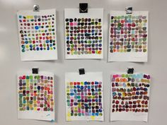 """Mixing 100 colors from """"teach kids art"""". No washing brush, leave white space, colors must be mixed. Select a row to create one painting. High School Art, Middle School Art, Kindergarten Art, Preschool Art, 3rd Grade Art, Grade 2, Ecole Art, Art Lessons Elementary, Principles Of Art"""