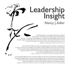Leadership Insight by Nancy J. Adler http://www.amazon.com/dp/0415877628/ref=cm_sw_r_pi_dp_DhQNwb0FM6D6V