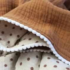 Brown Muslin quilt blanket large Polka dot muslin Swaddle | Etsy Muslin Swaddle Blanket, Swaddle Wrap, Crib Blanket, Baby Swaddle, Breastfeeding Cover, Tummy Time, Baby Girl Gifts, Baby Grows, Burp Cloths