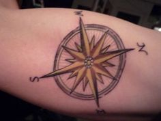Old Compass Rose | Compass Rose. had the artist match my family crest in colour and style ...