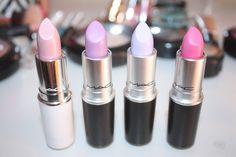 pretty gorgeous makeup pink cosmetics girly mac barbie Hot Pink lavender MAC Cosmetics lipsticks baby pink mac lipsticks pink lipsticks nude lipsticks