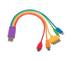 Rainbow 5-in-1 USB Adaptor Cable $13.00