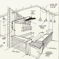 Home Decorators Collection Rugs Referral: 3645189569 Cafe Shop Design, Coffee Shop Interior Design, Pub Interior, Kiosk Design, House Design, Interior Sketch, Interior Doors, Restaurant Floor Plan, Restaurant Design