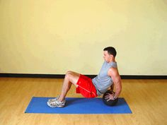 Triceps Dips on Medicine Ball Exercise