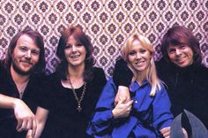 """ABBA at the time of filming the video for """"Knowing Me Knowing You"""" in January 1977."""