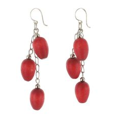 aarikka Red Hento Earrings Little wooden droplets dangle down from the eras in tiers of silver and red. Measuring total, the aarikka Red Hento Earrings make a cute little addition to any outfit, and will really shine when wor. Bijoux Diy, Marimekko, Beading Patterns, Dangles, Helmet, Jewelry Design, Bling, Brooch, Drop Earrings