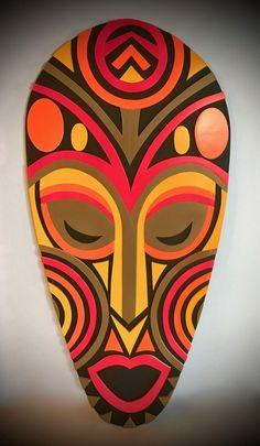 African Drawings, African Artwork, African Art Paintings, Tribal Art, Tribal Theme, Orishas Yoruba, African Art Projects, African Tattoo, Mask Painting