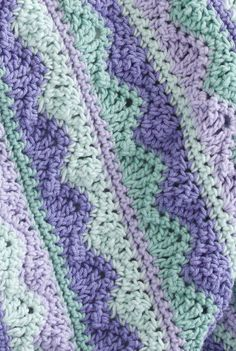 Caron Summer Mist Throw free pattern