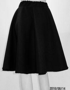 Black Skirt Tea Length Skirt~Full Circle Tea Length Skirt~1950u0027s Swinging  Style Skirt