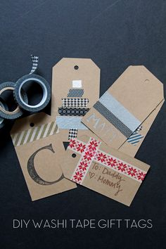 DIY Washi Tape Gift Tags on { lilluna.com }