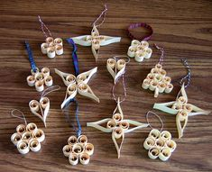 Scandinavian Wood Shaving Christmas Tree Ornaments Kit by all things paper, via Flickr