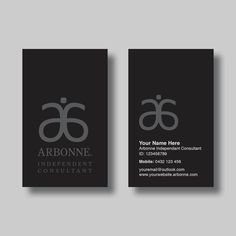 Arbonne Business Card (Simplicity Black) - Digital Design by BellGraphicDesigns on Etsy https://www.etsy.com/au/listing/277090732/arbonne-business-card-simplicity-black