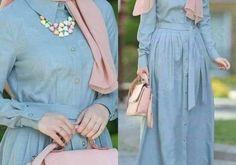 Chiffon and cotton maxi hijab outfits