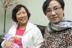 Woon-tim Lee (left) and Sharon Keung both work as postpartum doulas or yue-saos in Toronto -using traditional Chinese practices.