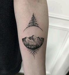 zen circle içine berlindeki resmim olabilir Pine Tree Tattoo, Forearm Tree Tattoo, Tree Tattoo Men, Bicep Tattoo Men, Tattoos Of Trees, Small Tree Tattoos, Small Tattoos For Men, Cool Tattoos For Guys, Belly Tattoos