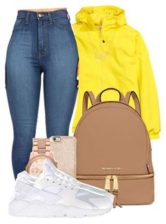 """ Sorry Not Sorry "" by mindlesspolyvore ❤ liked on Polyvore featuring MICHAEL Michael Kors, Michael Kors, NIKE and Swarovski"