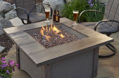 Outdoor gas fire pit tables and gas fireplaces add a warm, cozy glow to any…